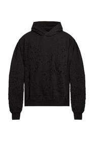 Hoodie with decorative holes