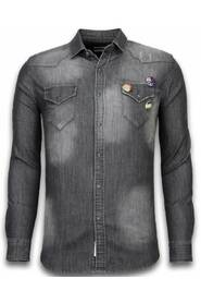 Denim Shirt - Spijkerblouse Slim Fit - 3 Buttons
