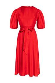 Dress with puff sleeves
