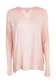 BOAT NECK BRIGHT PULLOVER WITH SLITS