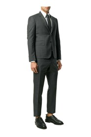 HIGH ARMHOLE SUIT W/TIE AND LOW RIDE SKINNY TROUSERS