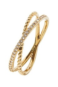 Pave Crossover Ring