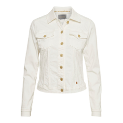 25c35446 Hvit Slfcarry Cropped Denim White Jacket Jakke | Selected Femme ...