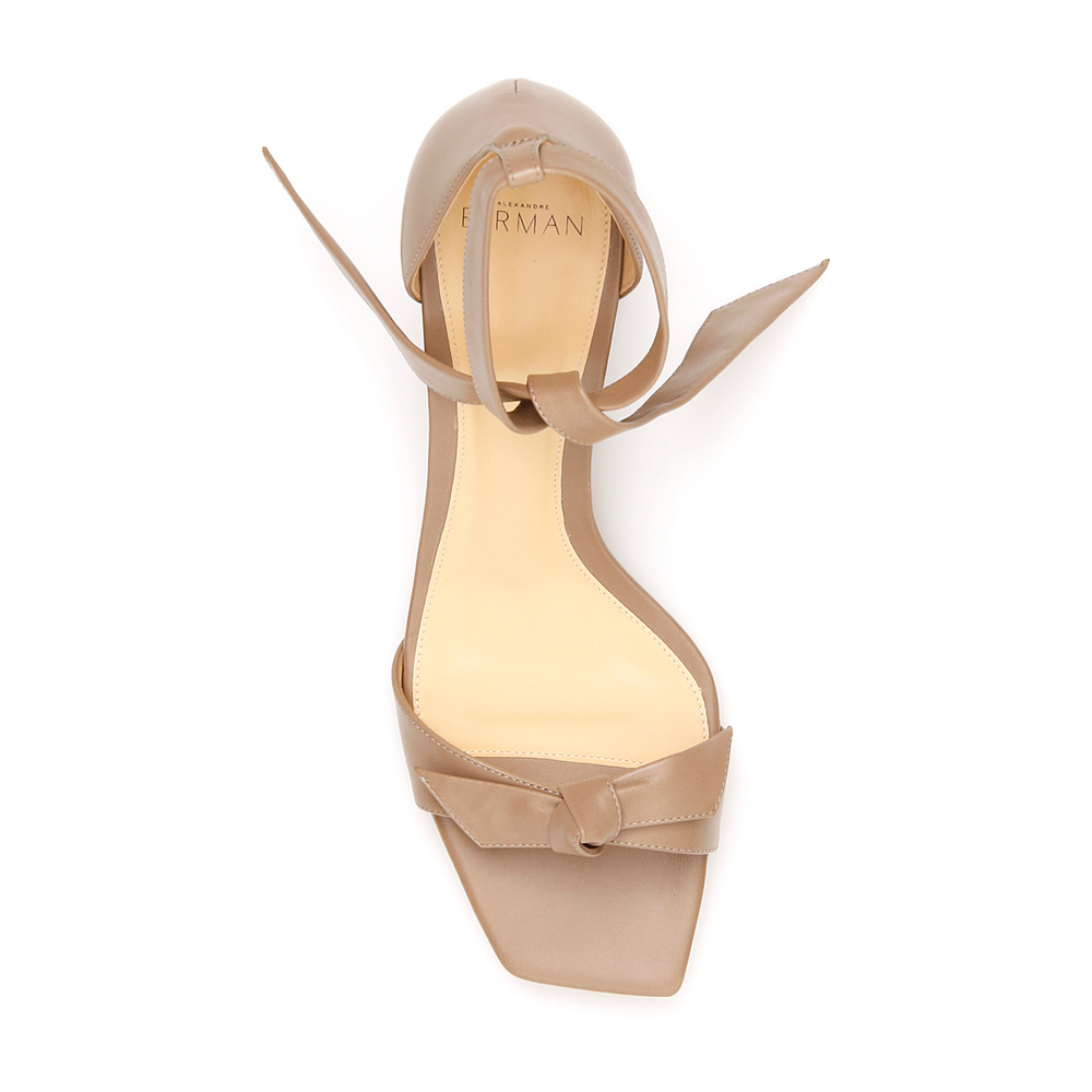 Beige Clarita square 60 sandals | Alexandre Birman | High Heel Sandals | Women's shoes