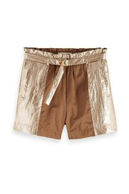 Loose fit metallic colour block shorts