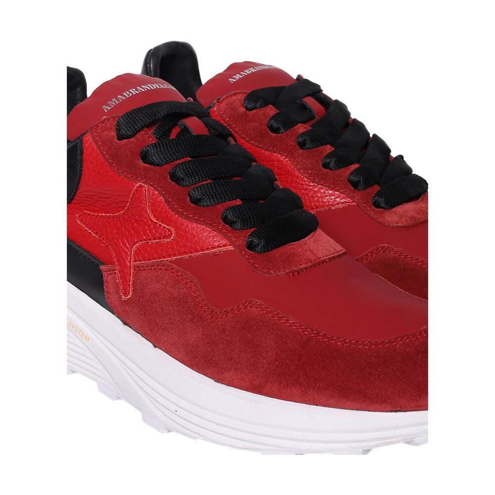 Red  Flat schoenen | Ama Brand | Sneakers | Herenschoenen