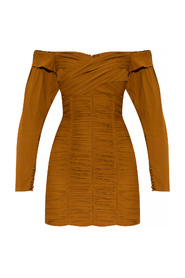 Fitted dress with gathers