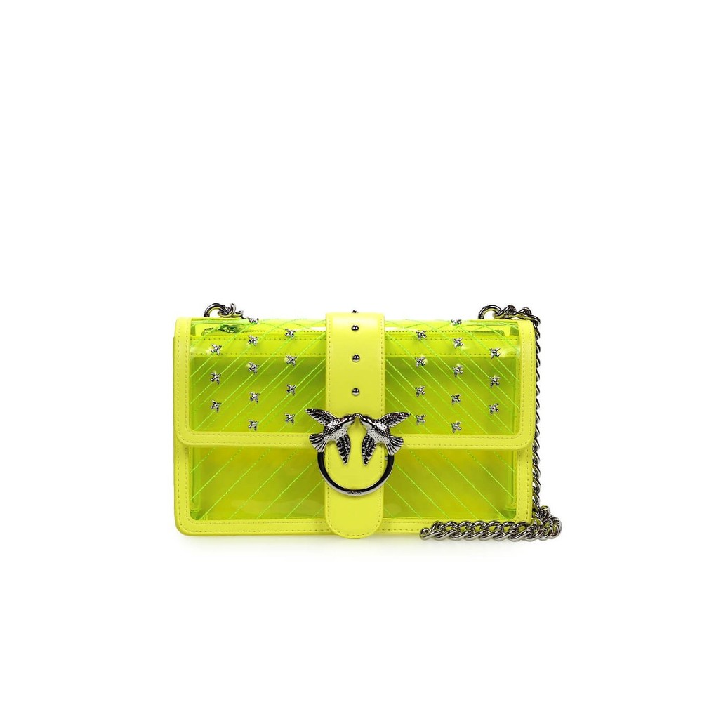 FLUO YELLOW PVC PLASTIC LOVE BAG