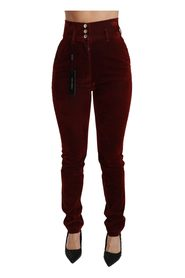 High Waist Stretch Slim Pants