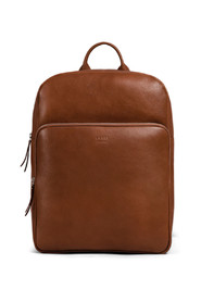 Train leather backpack