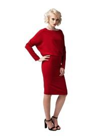 Sukienka midi odsłoniętymi plecami