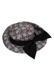 Floral Embroidered Trilby Cap Hat