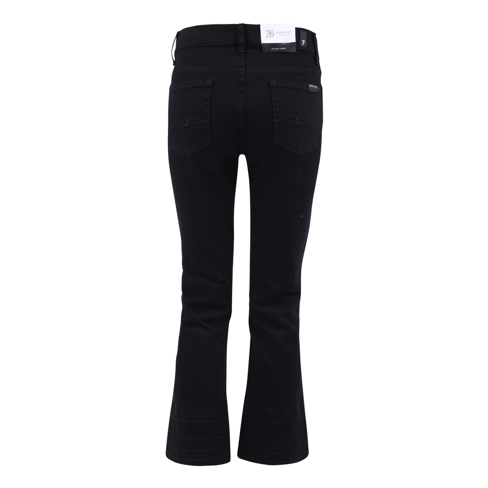 7 For All Mankind Black Cropped denim jeans 7 For All Mankind