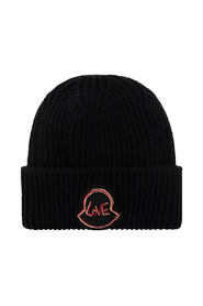 Embroidered-Patch Knitted Hat