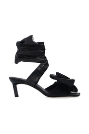 Tie-up heeled sandals