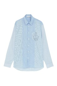 Relaxed Stripe Patchwork Shirt