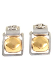 Square Dangling Earrings w/CC on Top Ball