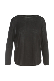 ROUNDED BOAT NECK 3/4S SWEATER
