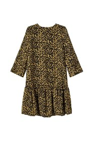 Dress leopard print drop waist