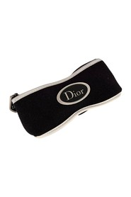 Vintage Black White Logo Sunglasses Pouch Eyewear Case