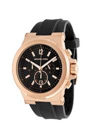 Dylan Chronograph Black Silicone watch