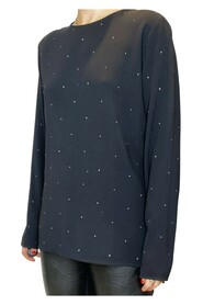 long sleeved blouse with dots