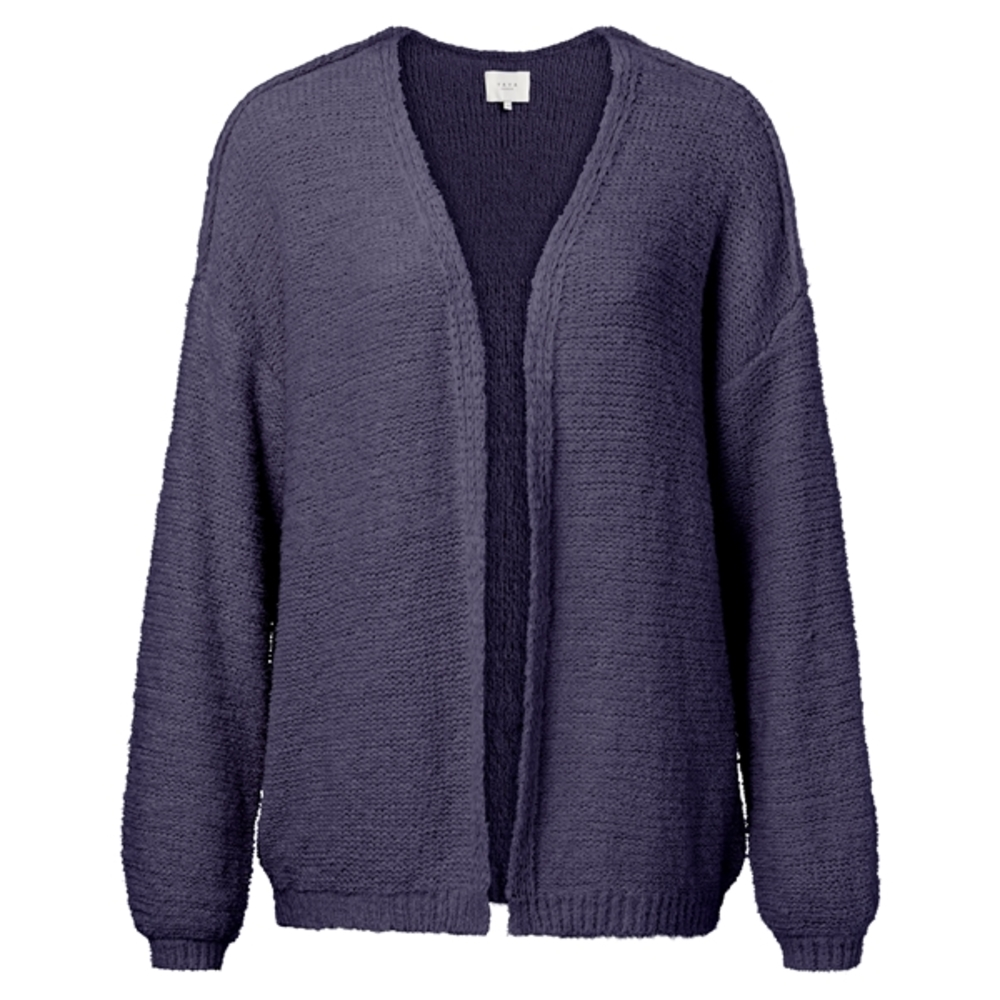 TAPE YARN KNITTED CARDIGAN