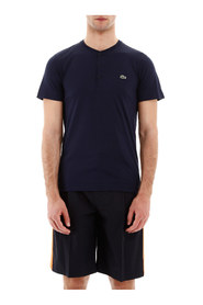 Henley t-shirt with logo patch