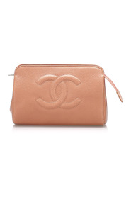 Pre-owned Caviar Leather Pouch