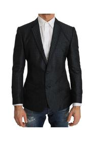 Pattern Silk Slim Fit Blazer Jacket