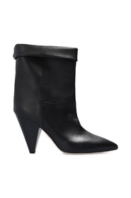 Conic heeled boots