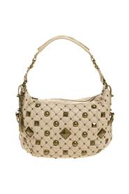 Quilted Leather Studded Hobo
