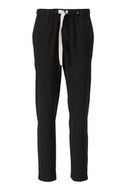Wool Trousers with Elastic Waistband