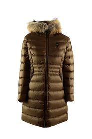 USA Evelyn long down jacket with hood with removable fur trim