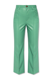 Flared trousers from vegan leather