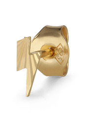 Reflection Lightning Stud, gold-plated sterling silver
