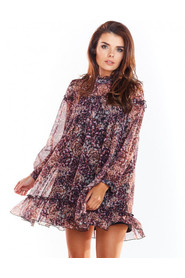 Sukienka wzorzysta  A319