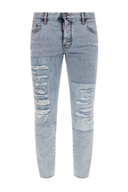 'Super Twinky Jean' jeans with raw edge