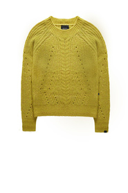 Cable knit pullover yellow