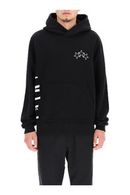 Full Zip Hoodie With Crackled Logo