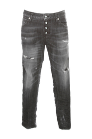 COOL DESTROYED CROPPED PANTS