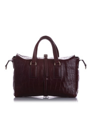 Roxette Croc Embossed Satchel Leather Calf England