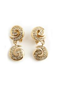 Swirl chrystal earrings
