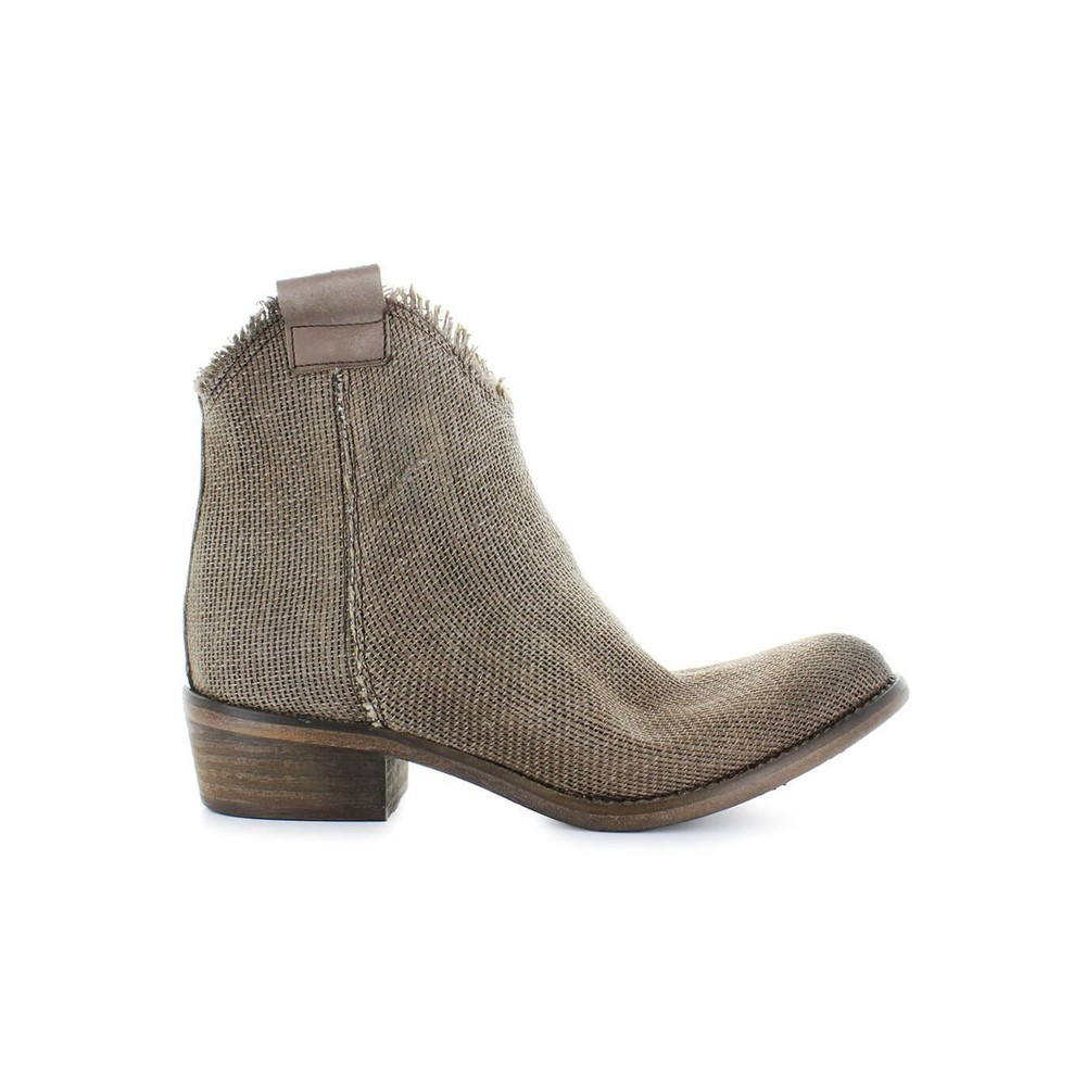 CANVAS ANKLE BOOTS