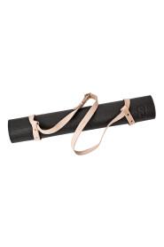 Bærestrop til yogamåtte  Lys naturfarvet læder og messingdetaljer