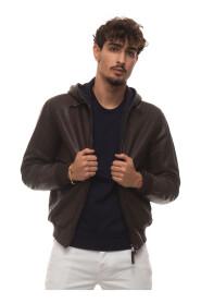 Battery hooded harrington jacket