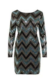 VISPARKY L/S CHEVRON DRESS