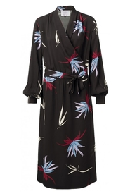 YAYA - Belted Maxi Dress with floral print - Violet Purple