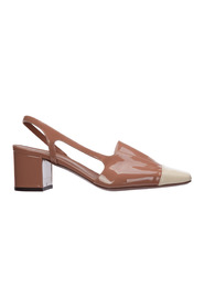 Leather pumps court shoes high heel
