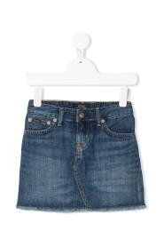 Five Pockets Denim Skirt